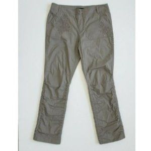 INC Gray Embellished Convertible Cargo Tie Pants